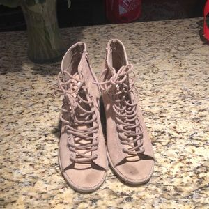 Size 11 lace up heeled booties